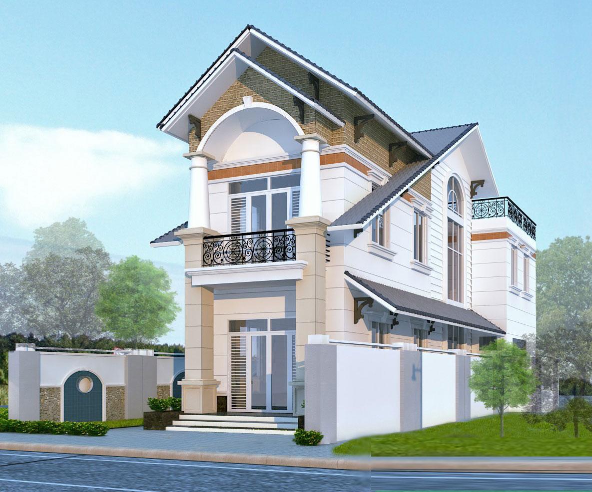 Mẫu nhà 2 tầng đẹp và hiện đại